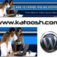 How to change the username in a wordpress website.
